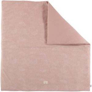 Nobodinoz - N103105 - Tapis de jeu Colorado 100x100 cm white bubble - misty pink (388290)