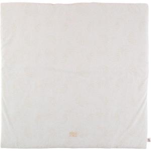 Nobodinoz - N103082 - Tapis de jeu Colorado 100x100 cm gold bubble - white (388296)