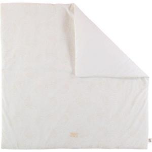 Nobodinoz - N103082 - Tapis de jeu Colorado 100x100 cm gold bubble - white (388296)