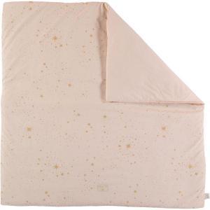 Nobodinoz - N103143 - Tapis de jeu Colorado 100x100 cm gold stella - dream pink (388310)