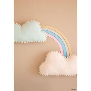 Nobodinoz - N107431 - Coussin Marshmallow nuage AQUA (388616)