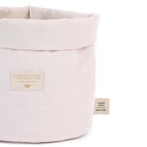 Nobodinoz - N101279 - Panier Panda S 19x15 cm coton uni dream pink (389048)