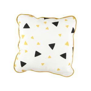 Nobodinoz - N054674 - Coussin Joe 19x19 cm confettis noirs et miel (389240)