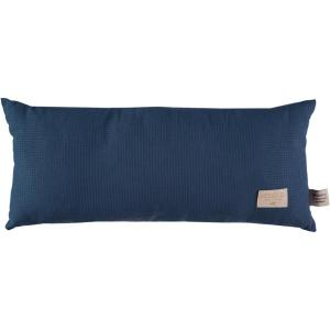 Nobodinoz - N100302 - Coussin Laurel en coton organique 22x35 cm night blue (389392)