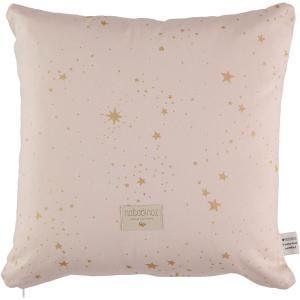 Nobodinoz - N100531 - Coussin Descartes 38x38 cm gold stella - dream pink (389474)