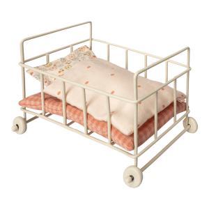 Maileg - 11-8112-00 - Metal Baby cot, Micro  - Taille 10 cm - à partir de 36 mois (390968)