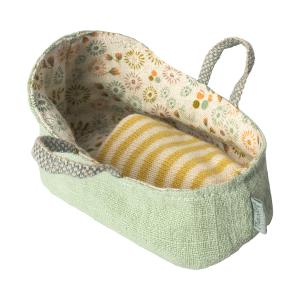 Maileg - 11-8409-01 - Carry cot, My - Mint (390990)