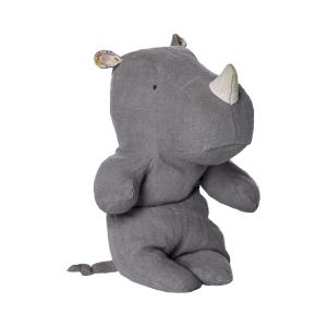 Maileg - 16-6922-01 - Safari friends, Rhino Grey, Small - Taille 22 cm - de 0 à 36 mois (391716)