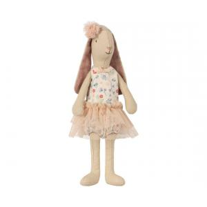 Maileg - 16-8125-01 - Mini light bunny, Flower suit - Rose   - Taille 22 cm - de 0 à 36 mois (391904)
