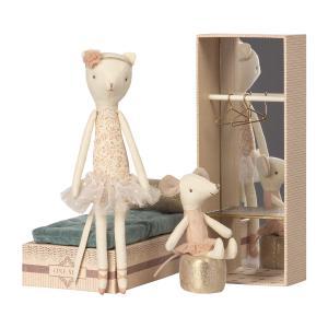 Maileg - 16-8601-00 - Chat & Souris dansants dans boîte à chaussures -  28 cm (391918)