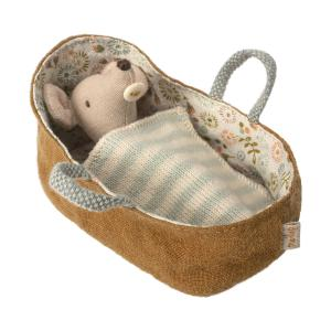 Maileg - 16-8711-00 - Baby mouse in carrycot (391924)