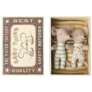 Maileg - 16-8713-01 - Baby mice, Twins in box (391928)