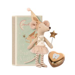 Maileg - 16-8730-01 - Tooth fairy, Big sister mouse w. metal box (391944)