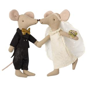 Maileg - 16-8740-01 - Wedding mice couple in box (391968)