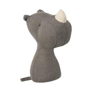 Maileg - 16-8911-00 - Noah's Friends, Rhino Rattle - Taille 12 cm - de 0 à 36 mois (392002)