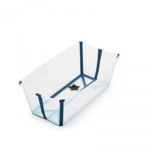 Stokke - 531904 - Baignoire pliante Flexi Bath®  Transparente (avec bouchon de vidange réactif à la chaleur) (392534)