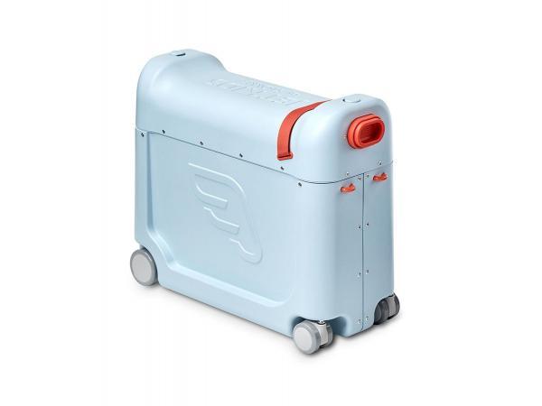 Valise à roulettes bedbox® 2.0 de jetkids™ by stokke (avec matelas de voyage) bleu ciel
