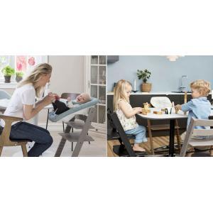 Stokke - BU134 - Pack chaise TRIPP TRAPP Rose Pâle avec Baby Set et tablette (392590)