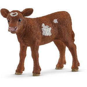 Schleich - 13881 - Figurine Veau Texas Longhorn - Dimension : 7 cm x 2,9 cm x 5 cm (392642)