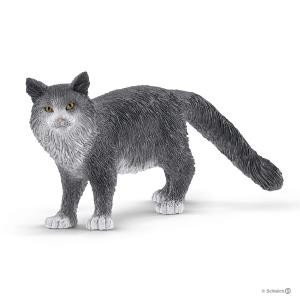 Schleich - 13893 - Figurine Chat Maine Coon - Dimension : 8 cm x 3 cm x 4,1 cm (392666)