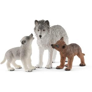 Schleich - 42472 - Maman loup avec louveteaux (392732)