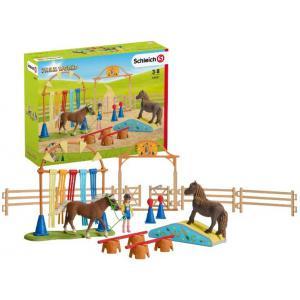 Schleich - 42481 - Entraînement d'agility pour poney (392778)