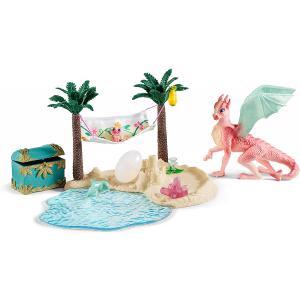 Schleich - 42436 - Île aux dragons avec son trésor (392796)