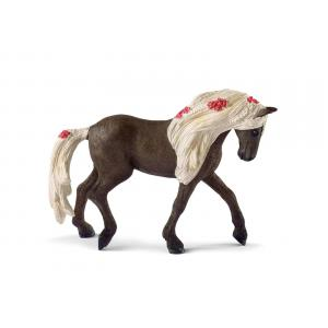 Schleich - 42469 - Figurine Jument Rocky Mountain Horse Spectacle équestre - Dimension : 15 cm x 8,2 cm x 18 cm (392804)