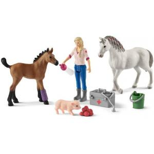 Schleich - 42486 - Visite du vétérinaire pour jument et poulain (392808)