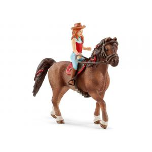 Schleich - 42514 - Figurine Horse Club Hannah & Cayenne - Dimension : 15 cm x 8,2 cm x 18 cm (392810)