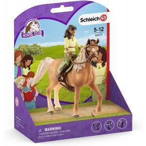 Schleich - 42517 - Figurine Horse Club Sarah & Mystery - Dimension : 15 cm x 8,2 cm x 18 cm (392816)