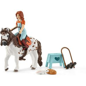 Schleich - 42518 - Figurine Horse Club Mia & Spotty - Dimension : 19 cm x 5,5 cm x 11,5 cm (392818)