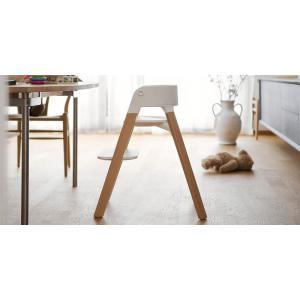 Stokke - BU154 - Chaise STEPS Bois de hêtre Blanchi et tablette (392866)