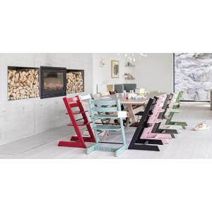 Stokke - BU128 - Pack chaise TRIPP TRAPP Blanchi avec Baby Set et tablette (392876)