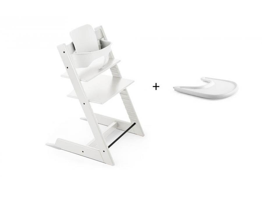 Pack Chaise TRIPP TRAPP Blanc Avec Baby Set