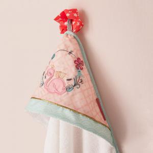 Little Crevette - JACB - Cape de bain 75x75 cm Flamant rose (393302)
