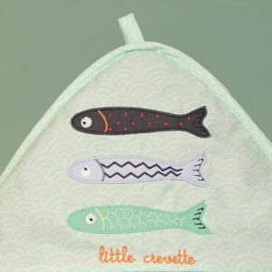 Little Crevette - SACB - Cape de bain 75x75 cm Poisson Lune (393328)
