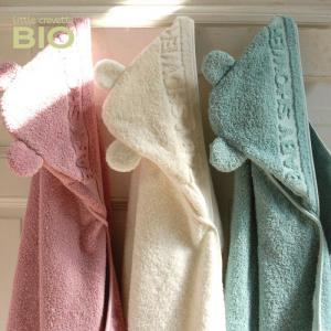 Little Crevette - BSCBe - Sortie de bain  BabyShower écru (393540)
