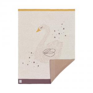 Lassig - 1542001741 - Couverture coton bio GOTS  Little Water Cygne, 75x100 cm (393946)