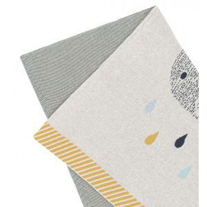 Lassig - 1542001452 - Couverture coton bio GOTS  Little Water Baleine, 75x100 cm (393948)