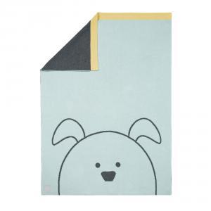Lassig - 1542005524 - Couverture coton bio GOTS Little Chums Chien, 75x100 cm (393960)