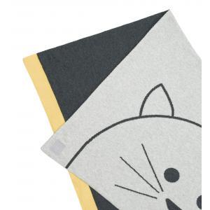 Lassig - 1542005108 - Couverture coton bio GOTS Little Chums Chat, 75x100 cm (393962)
