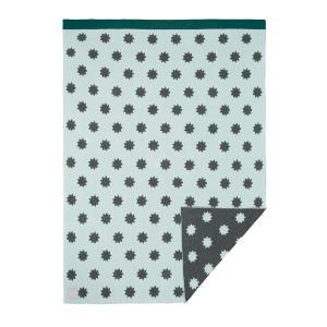 Lassig - 1542001525 - Couverture coton bio Little Chums Étoiles menthe, 75x100 cm (393966)