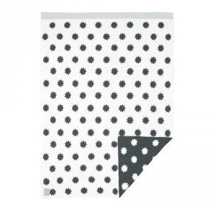 Lassig - 1542001109 - Couverture coton bio Little Chums Étoiles blanc, 75x100 cm (393968)