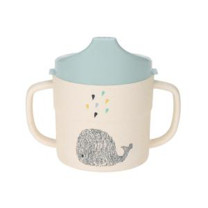 Lassig - 1310017452 - Tasse d´apprentissage bambou Little Water Baleine (394216)