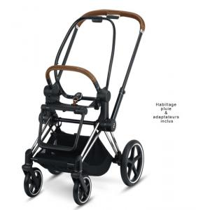 Cybex - 519002295 - Châssis et structure siège Priam Chrome (finitions marron) (395372)