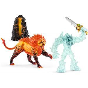 Schleich - 42455 - Combat pour la super arme – le monstre des glaces contre le lion de feu (397774)