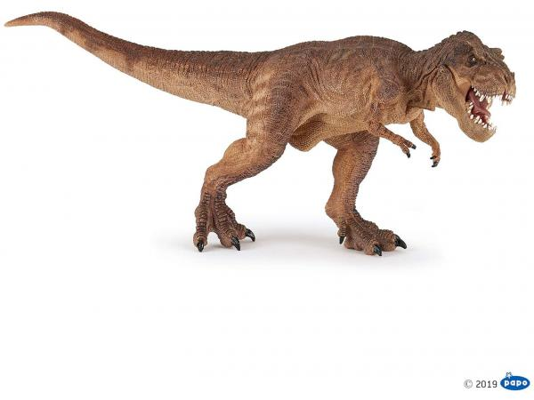 Figurine t-rex courant marron