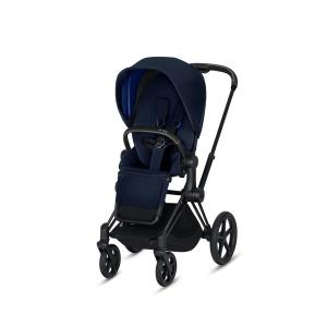 Cybex - BU172 - Poussette Priam 2019  Noir Indigo blue (398074)