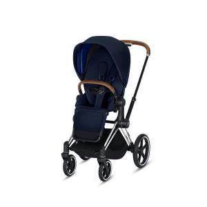Cybex - BU173 - Poussette Priam 2019  Alu-marron Indigo blue (398076)